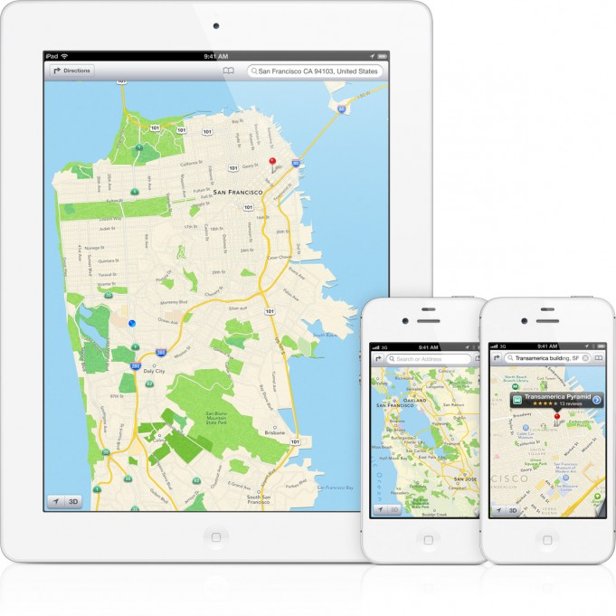Le mappe di Apple in iOS 6 - Credits: courtesy of Apple
